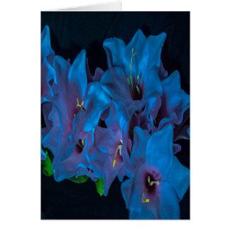 中の電気青の花の挨拶状を消して下さい カード