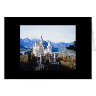 中ノイシュヴァンシュタイン城の城ドイツブランク カード