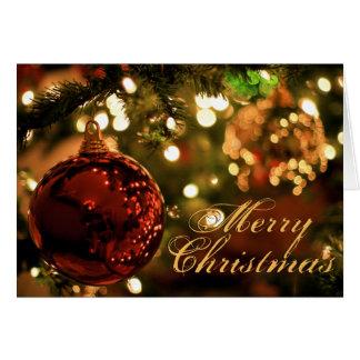 中メリークリスマスのカスタム カード