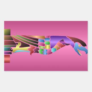 中世ガーゴイルの鳥のステッカー 長方形シール