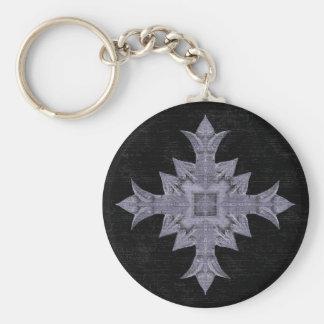 中世ゴシック様式ファンタジーの十字 キーホルダー