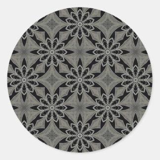 中世ゴシック様式花 ラウンドシール