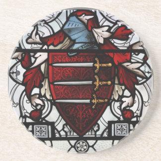 中世ステンドグラスのパネル コースター