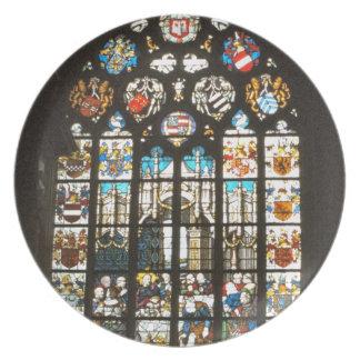 中世ステンドグラス窓、オランダ プレート
