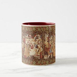 中世タペストリーのマグ ツートーンマグカップ