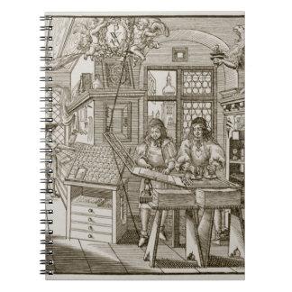 中世ドイツの印刷機(版木、銅版、版画) ノートブック