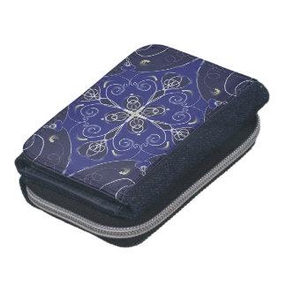 中世バロック式の青いコバルトのインディゴの暗闇パターン