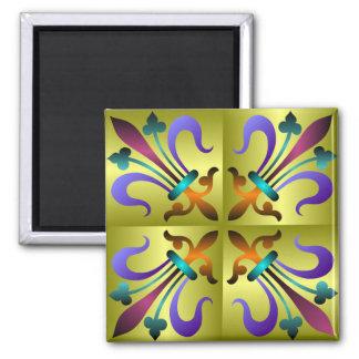 中世パターン正方形の磁石 マグネット