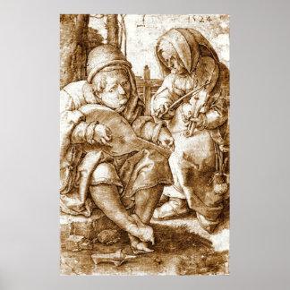中世ミュージシャン1524年 ポスター