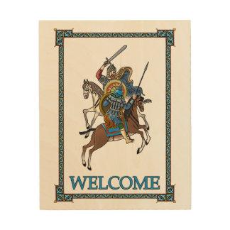 中世ロシア語Bogatyr -歓迎 ウッドウォールアート