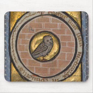 中世原稿からのフクロウ マウスパッド