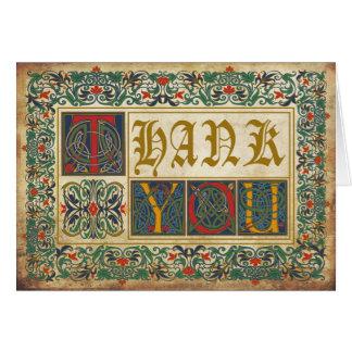 中世原稿ゴシックは感謝していしています カード