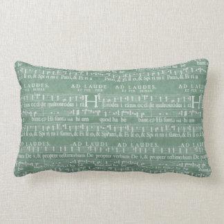 中世原稿ティール(緑がかった色)の緑 ランバークッション