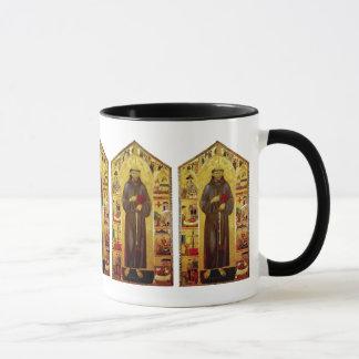 中世図像学聖者アッシジのフランチェスコ マグカップ