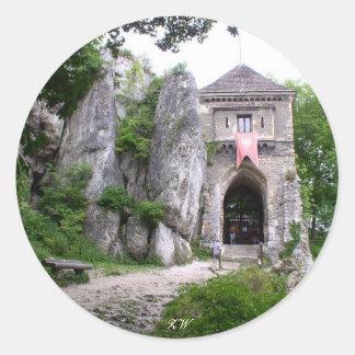 中世城はステッカーを台無しにします ラウンドシール