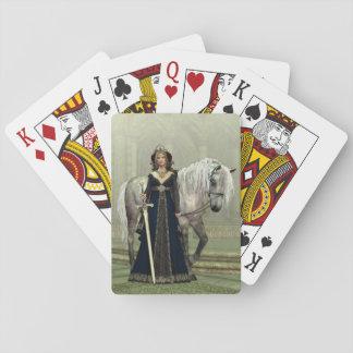 中世女性および馬のトランプ トランプ