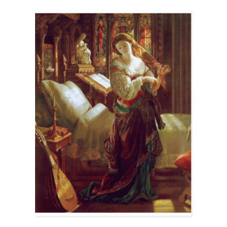 中世女性の寝室 ポストカード