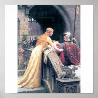 中世女性騎士城愛人間関係 ポスター