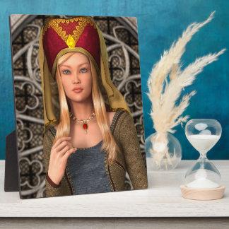中世女性 フォトプラーク