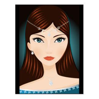 中世女性 ポストカード