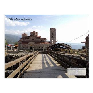 中世教会St Clement、Plaoshnik、マケドニア ポストカード