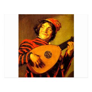中世楽師6 ポストカード