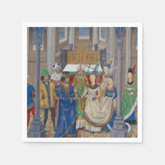 中世混血の結婚式の絵画 スタンダードカクテルナプキン