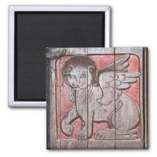 中世神話的なライオン-聖者印のライオン マグネット