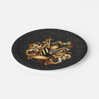 中世紋章付き外衣7インチの紙皿 ペーパープレート