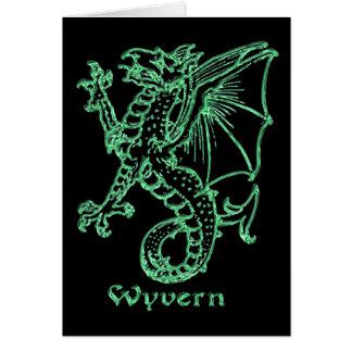 中世紋章学のワイバーン カード