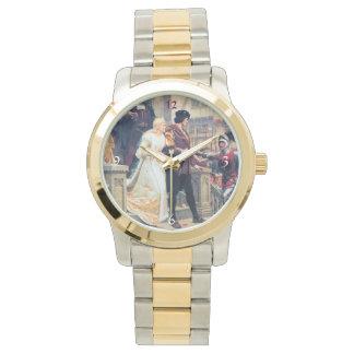 中世結婚式教会騎士花嫁の新郎 腕時計