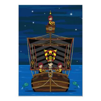 中世船RSVPカードのプリンセス及び騎士 カード