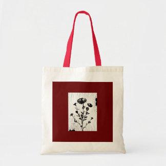 中世花の芸術のスケッチ トートバッグ