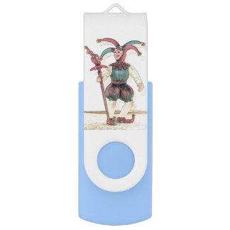中世裁判所のこっけい者USBの旋回装置のフラッシュドライブ USBフラッシュドライブ