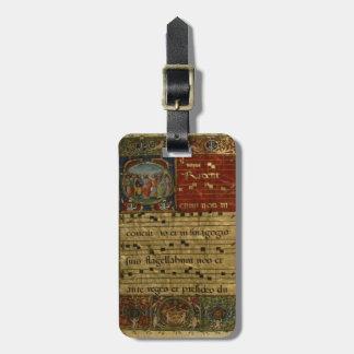 中世詠唱の原稿 ラゲッジタグ