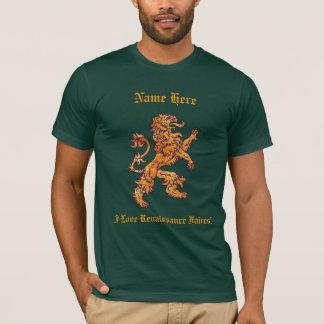 中世金ゴールドのライオン Tシャツ