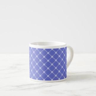 中世青い斜めパターン エスプレッソカップ