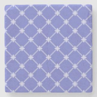 中世青い斜めパターン ストーンコースター