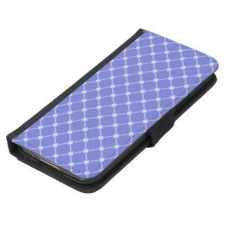 中世青い斜めパターン GALAXY S5 ウォレットケース