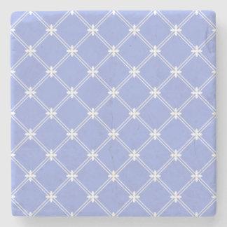 中世青および白いダイヤモンドパターン ストーンコースター