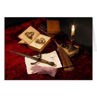 中世静物画のメッセージカード カード