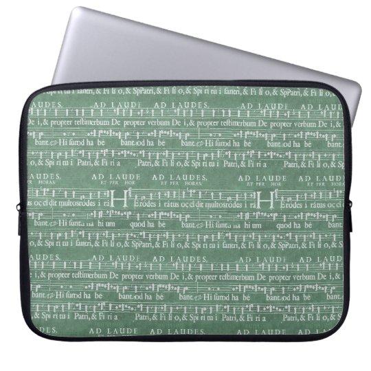 """中世音楽原稿ネオプレンの袖15"""" ラップトップスリーブ"""