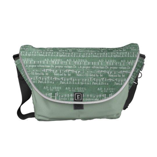 中世音楽原稿媒体のメッセンジャーバッグ メッセンジャーバッグ