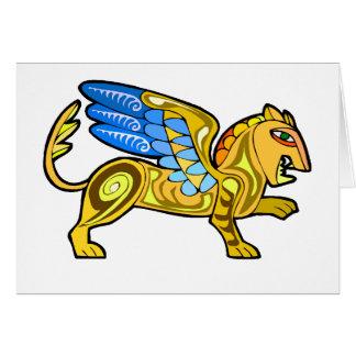 中世飛んだライオンGryphon カード