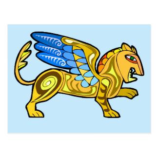 中世飛んだライオンGryphon ポストカード
