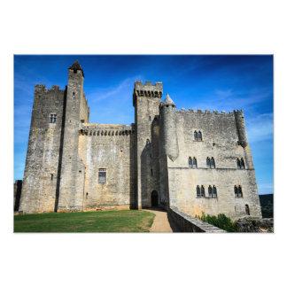 中世館のde Beynacの城の写真のプリント フォトプリント