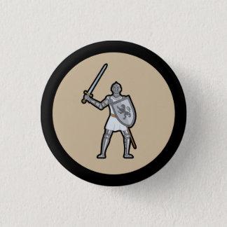 中世騎士ボタン 3.2CM 丸型バッジ