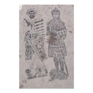 中世騎士落書き 便箋