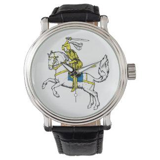 中世騎士馬の歴史の城のパーティーの運命 腕時計