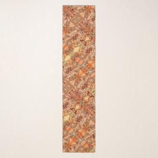 中世(占星術の)十二宮図のチャームのサテンのシフォンのスカーフ スカーフ